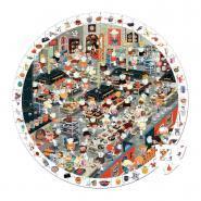 Puzzle d'observation rond de 208 pièces, la cuisine