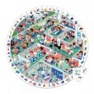 Puzzle d'observation rond de 208 pièces, les urgences