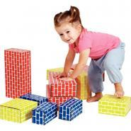 Briques en carton couleurs assorties - Paquet de 36