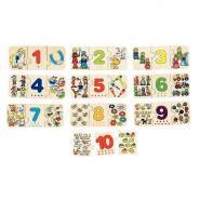 Puzzle association d'images et de chiffres