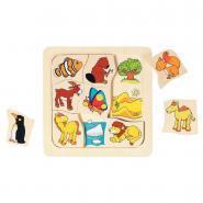 Puzzle où vivent les animaux?