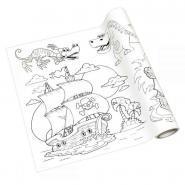 Rouleau fresque à colorier adhésif repositionnable, décor garçons