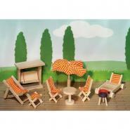 Salon de jardin pour maison de poupées