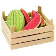 Cagette de 3 pastèques en bois