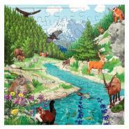 Puzzle de 81 pièces en bois - La montagne