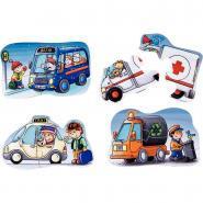 Puzzles en carton de 2 à 4 pièces, les services - Boite de 6