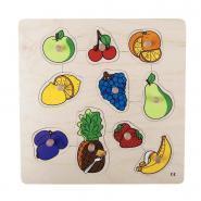 Encastrement en bois de 10 pièces, les fruits