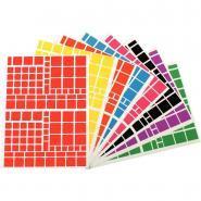 Agipa - Gommette adhésive format carrés assortis - Pochette de 1260