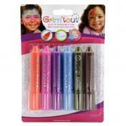 Etui de 6 sticks de maquillage couleurs pop