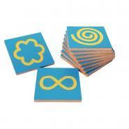 Plaque en bois figures sensitives - Carton de 10