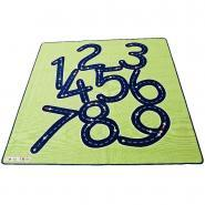 Tapis 2x2m les chiffres