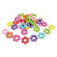 Perles anneaux irisées assorties - Sachet de 220