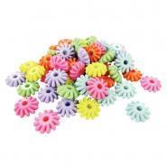 Perles rondelles multicolores - Sachet de 400