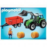 Tracteur + remorque PLAYMOBIL