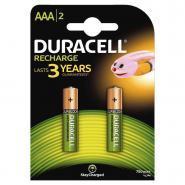 Accu DURACELL AAA 750A Plus Power - Blister de 2