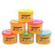 Pâte à jouer Blandiver, couleur fluo - Pack de 6 pots de 460 grammes