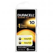 Piles auditives EASY TAB 10 DURACELL - Blister de 6