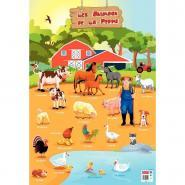Poster PVC 76x52cm - Animaux de la ferme