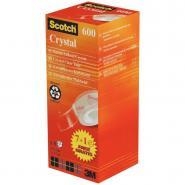 Scotch - Rouleau adhésif Crystal - 19mm x 33m - Pack de 8
