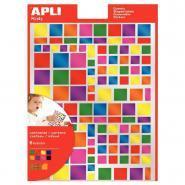 Agipa - Gommettes carrées métallisées couleurs assorties - Pochette de 756