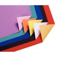 Feuilles cartoline bicolore 50 x 65 cm couleurs assorties - Paquet de 25