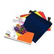 Papier vitrail 15 x 15 cm couleurs assorties - Paquet de 500 feuilles
