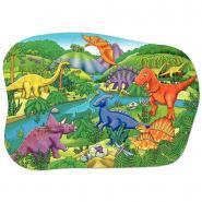 Puzzle contour 50 pièces, les dinosaures