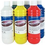 Peinture translucide DECOVITRE - Lot de 6 flacons 500 m