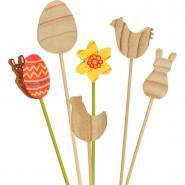 Piques fleurs Pâques - Lot de 12