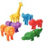 Puzzle magnétique les animaux du safari - Lot de 6