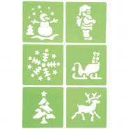 "Pochoirs ""Noël"" - Paquet de 6"