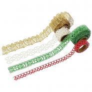 Rouleaux de ruban papier adhésif motif Noël - Lot de 4