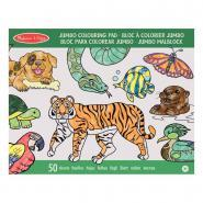 Carnet de 50 coloriages animaux assortis