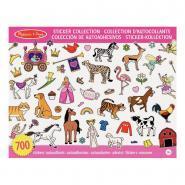 Stickers non repositionnables de 10 thèmes différents pour fille - Pochette de 700