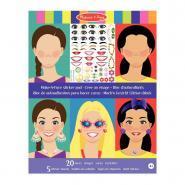 Pochette de 250 stickers + 20 visages filles