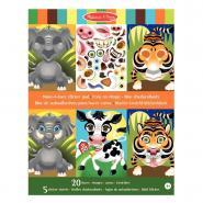 Pochette de 170 Stickers +  20 têtes animaux non repositionnable
