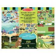 Stickers repositionnables les habitats des animaux - Pochette de 150