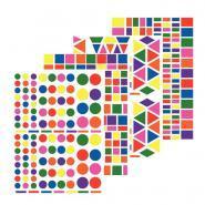 Kit de 4 affiches géantes thème La Ferme + 48 planches de gommettes géométriques repositionnables