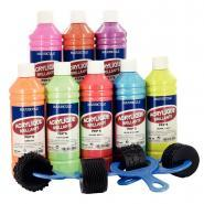 """Peinture acrylique """"ULTRA GLOSS"""", couleurs pep's - Coffret de 8 flacons 500 ml"""