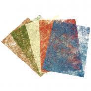 Feuilles de papier sisal pailleté format 23 x 33 cm - Sachet de 5