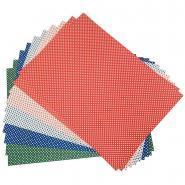 Feuilles en carton motifs pois assortis, format 50 x 70 cm, 300 grammes - Paquet de 10