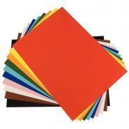 Feuilles en carton coloris assortis, format 50 x 70 cm, 300 grammes - Paquet de 25