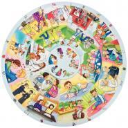Puzzle rond XXL, 49 pièces Cycle de la vie