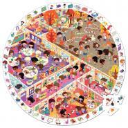 Puzzle d'observation rond de 208 pièces, l'école