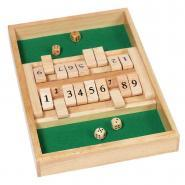 Double jeu SHUT THE BOX en bois