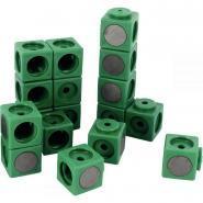 Cube magnétique emboitable 3.4cm vert - Sachet de 20