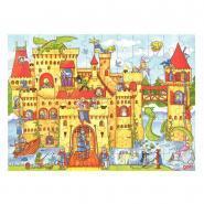 Puzzle en bois 96 pièces, le château fort