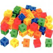 Jeu de construction cubes colorés 100 pièces