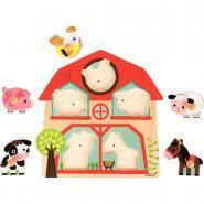 Encastrement musical, les animaux de la ferme, 5 pièces