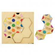 Encastrement bouton 7 pièces association de couleur